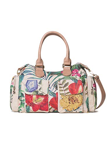 Desigual Bag Clio London Women - Borse a spalla Donna, Bianco (Crudo), 15.5x25.5x32 cm (B x H T)