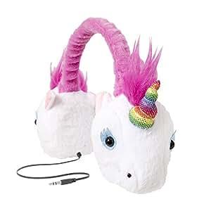 Retrak Retractable Animalz Headphones Rainbow Unicorn
