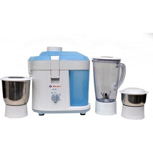 Bajaj JX 10 450-Watt Juicer Mixer Grinder (White/Blue)