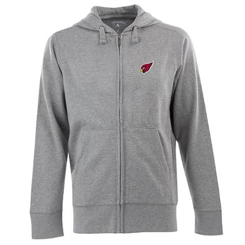 NFL Herren Arizona Cardinals Full Zip Signature Hooded Sweatshirt, Herren, Greyheather
