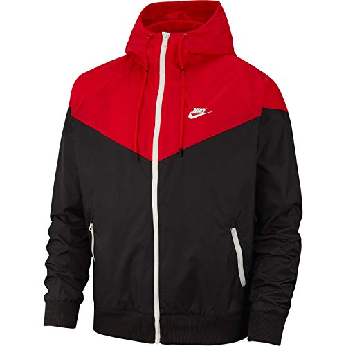 Nike M NSW HE WR JKT HD Veste Homme, University Red/Black/Sai, FR : S (Taille Fabricant : S)