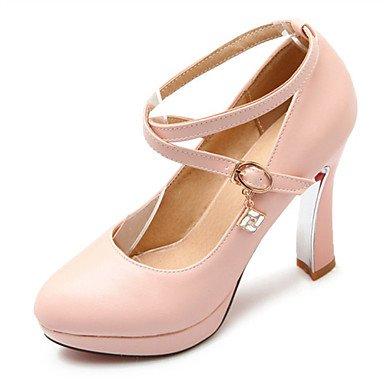 CH&TOU Da donna-Tacchi-Matrimonio Tempo libero Ufficio e lavoro Serata e festa-Comoda-Quadrato-Materiali personalizzati Finta pelle-Nero Rosa pink