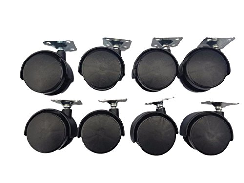 (Pack of 8) 50 mm wheel plastic Swivel Twin Castors for sale  Delivered anywhere in UK