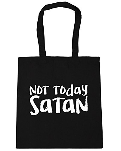 hippowarehouse-not-today-satan-tote-shopping-gym-beach-bag-42cm-x38cm-10-litres