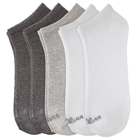 s.Oliver Unisex - Erwachsene Sneakersocke 5 er Pack, S24118, Gr. 39-42, Mehfarbig (weiß, hell Grey,