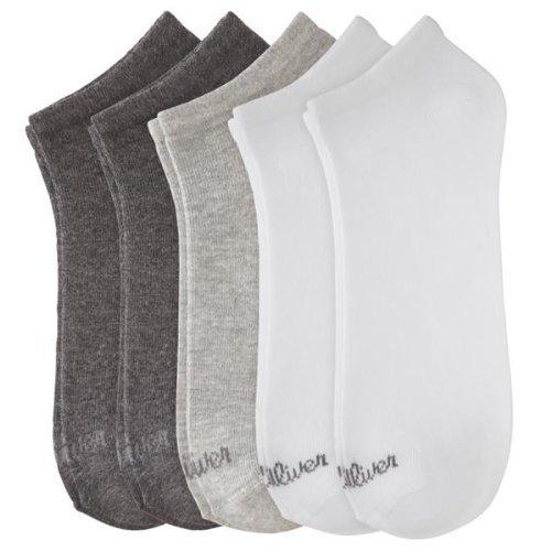 s.Oliver Unisex - Erwachsene Sneakersöckchen 5-er Pack, S24118, Gr. 35-38, Mehfarbig (weiß, hell Grey, dunkelGrey) (Knöchel Socken Pack)