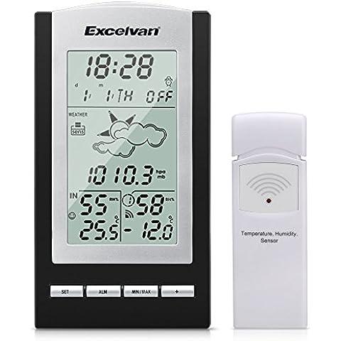 Excelvan WH1175 Stazione Meteo Digitale Wireless con Sensore Controlla la