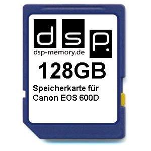 Dsp memory scheda di memoria per canon eos 600d 128 gb