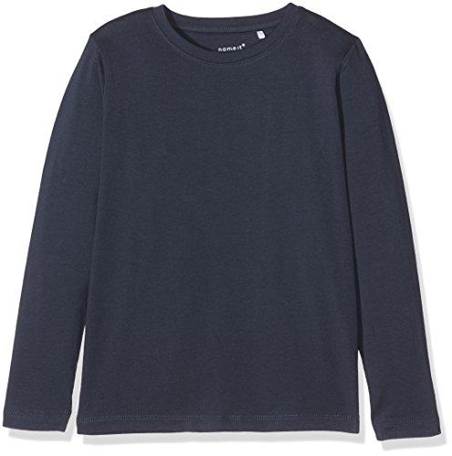 NAME IT Jungen Langarmshirt Nkmvillum LS Top Noos, Blau (Dress Blues), 128 (Herstellergröße: 122/128)