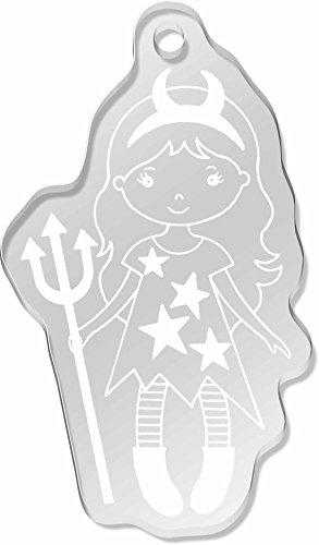 Azeeda 'Teufel Mädchen' Großer Schlüsselanhänger (AK00010138)