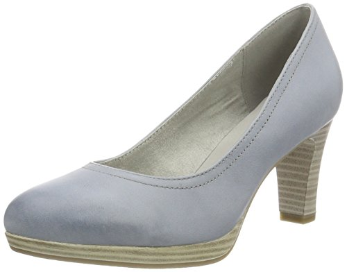 Tamaris Damen 22410 Pumps, Blau (Denim 802), 40 EU