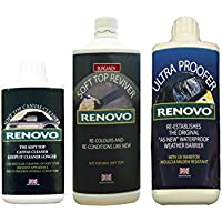 Renovo REN-KIT9 Triple Cleaning Kit includes Soft Top Reviver/Soft Top Ultra Proofer/Soft Top Canvas Cleaner, Red preiswert