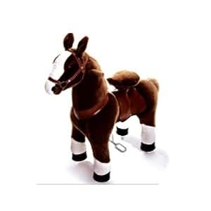 Inovtex - Ponycycle - cheval à roulettes chocolat