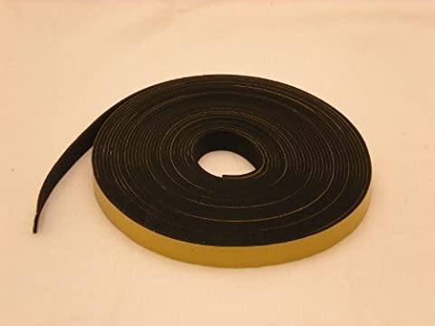 neoprene rubber self adhesive strip 20mm wide x 1.50mm thick x 10m long