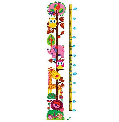 Jessie & Letty etiqueta de la pared desmontable del modelo de desarrollo de la jirafa Mono altura del Cuadro de pared de desarrollo Decor Sticker Vinilo adhesivo para la educación preescolar hasta Sala de juegos y niñas adolescentes para cámara