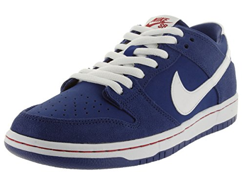 Nike Dunk Low Pro IW, Chaussures de Skate Homme, Blanc Multicolore - Azul / Blanco / Rojo (Deep Royal / White-Gym Red)