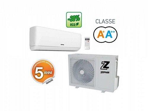 Zephir condizionatore inverter Gas R32 Risparmio 30% Elegance Ghost display ZEL 12000BTU