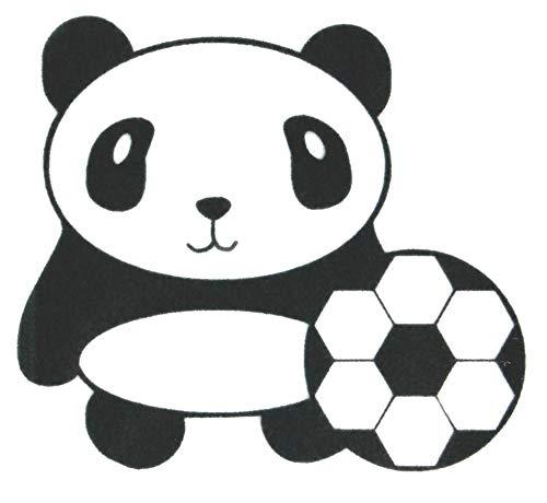 Bügelbild, Motiv: Panda, Version: D, Größe: 11x10cm, Farbe: schwarz, heißsiegelfähige Flockfolie auf Basis von Viskosefasern -