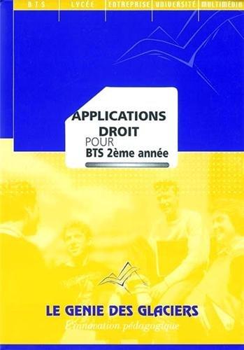 Applications Droit pour BTS 2e année