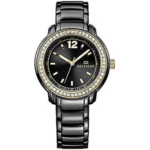 Tommy Hilfiger 1781495 - Reloj de cuarzo para mujer, correa de acero inoxidable color negro