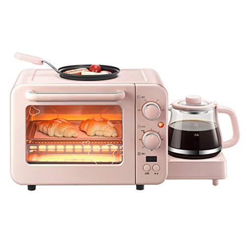 8l Mini Oven Cooker Grill Multifunktionale 3-In-1-FrüHstüCksmaschine, Mit Bratpfanne Und 0,8 L Wasserkocher, Temperatur Und Zeit Einstellbar (Wasserkocher Pizza Grill)