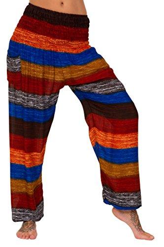 ThaiUK Harem Trousers Elastic Waist Womens & Mens