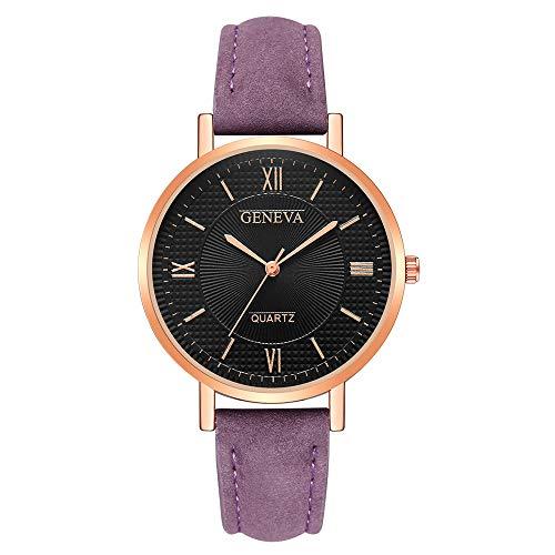 Patifia Damen Uhr, Mode Frauen Elegant Mädchen Uhren Genf Kristall Edelstahl Leder Quarz Analog Armbanduhren einfache Daily Uhr Zifferblatt Geschäft Uhr runde Armbanduhr