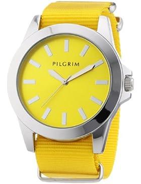 Pilgrim Damen-Armbanduhr Analog Quarz Nylon 701326903