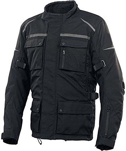Newfacelook uomini Motocicletta Biker corazza impermeabile nuova giacca lunga, M