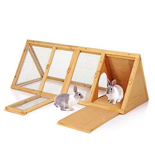 Garden Mile large en bois clapier à lapins intérieur cochon d'Inde COURSE EXTÉRIEUR JARDIN POULAILLER et run. animal Stylo de compagnie maison Predator preuve triangulaire forme à