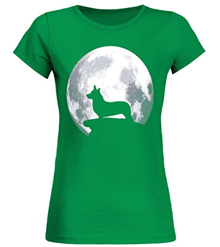 teezily Welsh Corgi Cardigan Dog Halloween Costume - Frauen T-Shirt - Irisch Grün