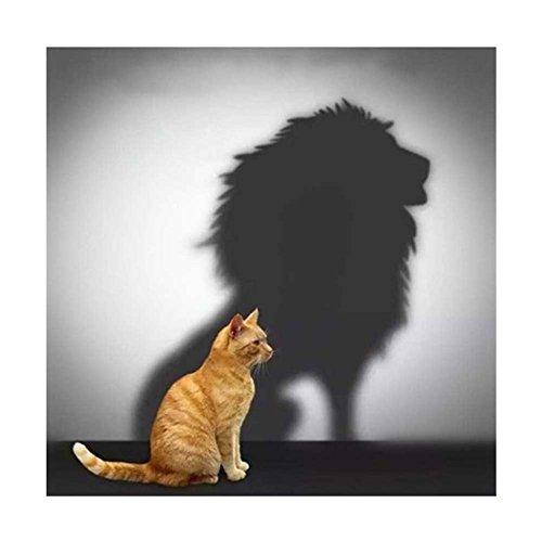 ei Kits für Erwachsene Kid Anfänger, 5D Diamant Art-Stickerei und Bilder, DIY Diamant Kristall Strass Diamant Gemälde painting Home Decor Cat - Lion (Home Decor Gemälde)