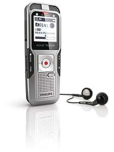 Philips DVT 3000 Digitaler Rekorder mit AutoAdjust 2Mic-Stereoaufnahme, 2 GB, grau