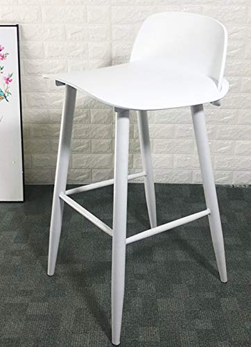 XINGING Muo Nordic Bar Chair Diseño Creativo Ocio Trona High Stool Bar Taburete Silla Bar Taburete Bar Taburete (Color : Blanco)