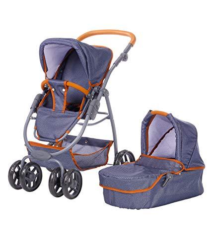 Knorr Toys 90730 Knorrtoys 90730-Puppenwagen Coco Puppenwagen, Dark Blue