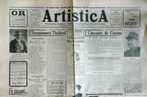 ARTISTICA N? 808 du 20-04-1937 CRISCUOLO - REGINA ARDENTI - ROLAN CONCOURS DE CINEMA PAR AUTREY CHAMPIONNAT THEATRAL - CHARLY - TOZZONI - DELEUIL - BOURELLY - CESARO - GILBERT - DORSAY - LYX - RAMON - PIERROT INCONNU - JENSE - MARC - FALLER - MAURY - ROSE - ROLLAND - MICHEL - PASCAL - GINEY - ROUSSY - ROUGON - JEAN - FRANCE - PERRET - HENRI - CORSINI - ANGELE MARIA - FRANCK LYX - ODETTE PAX ET BOSC