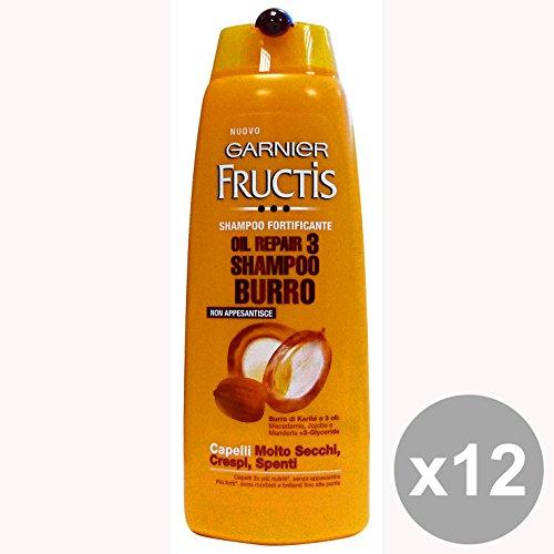Set di 12 FRUCTIS Shampoo OIL Repair 3 BURRO 250 Ml. Prodotti per capelli