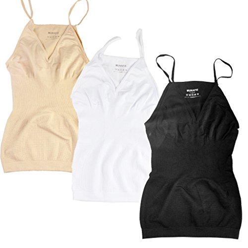 MUNAFIE -  Body  - Donna Black/Beige/White-3 Pack