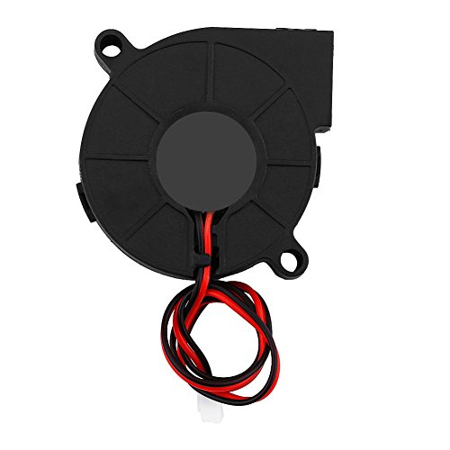 VBESTLIFE DC Blow Radial Lüfter Turbofan Kühler Kit Zubehör Prozessorlüfter für 3D Drucke,12V/24 V,50 * 15mm(24V) (Druck-kit)