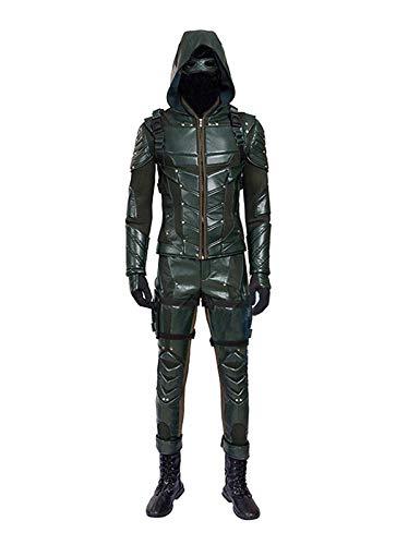 Green Cosplay Kostüm Arrow - Yewei TV Serie Arro Archer Season 5 Kostüm Herren Green Halloween Kostüm (Grün, M)