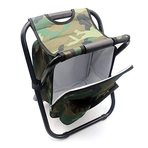 Klapp Camping Angeln Stuhl Hocker Rucksack Mit Kühler Isolierte Picknicktasche Wandern Camouflage Sitz Tisch Tasche -