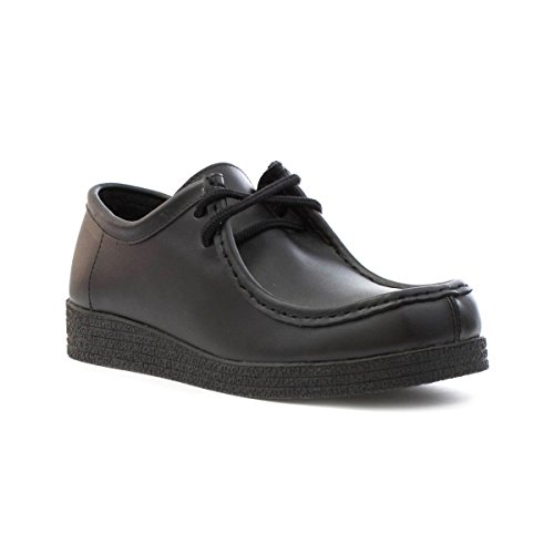 Zone - Womens Smart Coated Leather Lace Up Shoe in Black -...