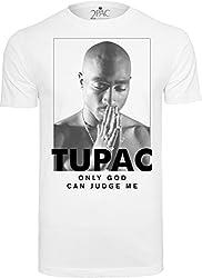 Mister Tee Herren 2Pac Prayer Tee T-shirts, white, L