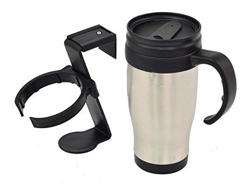 Preisvergleich Produktbild Car Van Travel Mug Tea Coffee-Cold Drink Thermos Flask Hot Or Cold+Cup Holder
