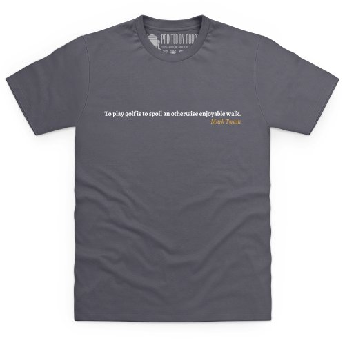 Mark Twain Quote T-Shirt, Herren Anthrazit