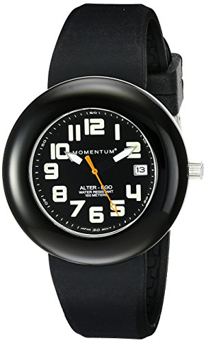 Momentum Ladies 1M-Sp99Bb1B Alter Ego Black Bezel Black Band Watch