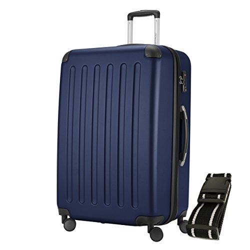 HAUPTSTADTKOFFER® Hartschalen Koffer SPREE 1203 · 128 Liter · MATT · TSA Zahlenschloss · + GEPÄCKGURT (Dunkelblau)