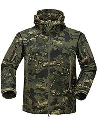 YFNT Impermeable Militar táctica Lucha contra la Chaqueta de Softshell Camping al Aire Libre Caminar Camuflaje