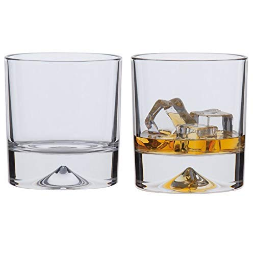 Dartington Crystal Dimple Double Old Fashioned Whiskygläser, 2er Set