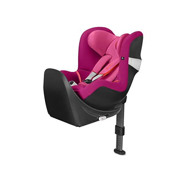 Cybex SIRONA M2 I-SIZE incl. BASE M Passion Pink | purple Cybex Sturdy and high-quality i-Size compliant extended rear facing car seat - for children from birth to approximately 105 cm (approximately 4 years), base M not included Maximum safety: Built-in side impact protection (L.S.P. System), energy-absorbing shell, complies with UN Standard R 129 for rearward-facing driving up to the size of 105 cm (in combination with ISOFIX Base M) Removable newborn insert, height-adjustable headrest (12 positions), one-hand seat adjustment, practical belt holders 1